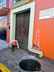 SAPAO atendió reporte de fuga de agua por robo de medidor en Avenida Juárez, Centro #Oaxaca.