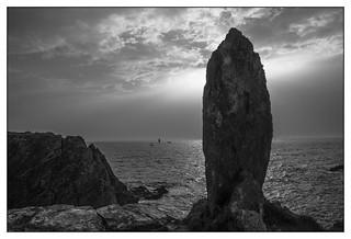 Surplombant la mer d'Iroise...
