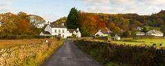 Satterthwaite Village (Rob Sutherland) Tags: satterthwaite village grizedale forest autumn colour road wall drystone walls house houses buildings settlement lakedistrict lakes nationalpark ldnp cumbria cumbrian britain british uk england english bright sunny sunshine autumnal color colours colors fall
