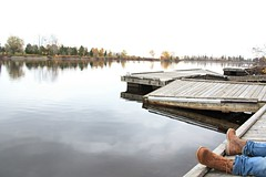 Calm (Cindy's Here) Tags: calm boulevardlake dock lake water fall autumn cloudy thunderbay ontario canada canon boots thebestthingsinlifearefree 117 89