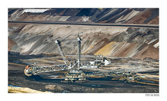 Monster machine (Pieter v Marion) Tags: tagebau surface mine lignite braunkohle bruinkool energy grondstof landscape snow sky road airplane mountain aerial monster machine