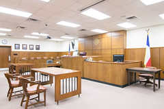 Courtroom, Jackson County Courthouse, Edna, Texas 1710191454 (Patrick Feller) Tags: edna texas tx jackson county courthouse square courtroom law lawyer attorney legal judge justice