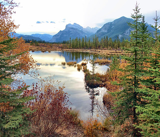 Vermillion Lakes, Banff National park, Alberta - ICE(5)2255-57