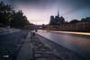 Very long exposure (MF[FR]) Tags: river light clouds europe cityscape colors paris france long exposure samsung seine lee filters big stopper pose longue lumière couleurs notredame nuage fleuve 5 minutes nx1