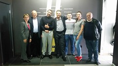 Melissa, Jerry, & David at Ingate Corporation with CEO Nikita Androsov & COO Alexander Letov