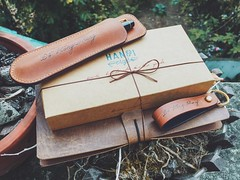 Gift for my love... (MrNamChip) Tags: pencase pen gift notebook love