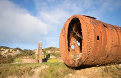 Porth Wen brick works 06 oct 17 (Shaun the grime lover) Tags: wales anglesey cemaes porthwen coast brick works brickworks chimney derelict industrial rusty boiler shell llanbadrig