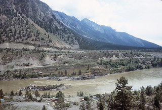 North of Lillooet, BC the Fraser River Canyon is  quite spectacular.  These photographs from May 21, 1992 were taken by my wife Nancy Collins. -- 9 Photos