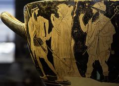 "From Iliad – I: Briseis' Abduction (Egisto Sani) Tags: iliade iliad louvre parigi vasi agamennon agamennone talthybios taltibio diomedes diomede briseis briseide ""red figure"" ""figure rosse"" macron makron hieron skyphos ""late archaic"" archaic period"" ""greek art"" ceramic"" pottery"" ""ceramica greca"" vases"" ceramica ""vasi greci"" "" paris ""musée du louvre"" ""g 146"" g146"