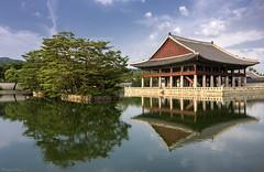 Meditation, Temple, Peace (Masoud Najari) Tags: temple standalone korea seoul exotic dramatic architecture sky tree lake reflection nikon sigma meditation peace asia