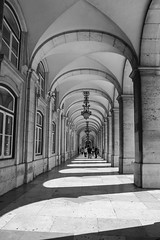 Archways in Lisbon (joscelyn_p) Tags: lisbon lisboa portugal canon lightroom blackandwhite blackwhite black white arches archways architecture travel traveler traveling vacation holiday tourism tour trip