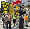 Antigay Agitators -- 3 (Bullneck) Tags: summer americana neworleansla suthronsector louisiana protest macho biglug toughguy bullgoons signage bubba