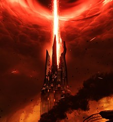 """""""The root of evil"""" (L1netty) Tags: pc games gaming reshade screenshot idsoftware doom 8k color videogame bethesdasoftworks red srwe tower smoke outdoor energy"""