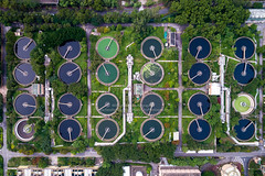Sha Tin Sewage Treatment Works, Hong Kong (William C. Y. Chu) Tags: hongkong newterritories hk shatin sewagetreatment 污水處理廠 沙田 aerial drone city cityscape urban civil engineering civilengineering environmentalengineering environment environmentalprotection water watertreatment drainage wastewater pattern birdseyeview birdseye aerialview topview