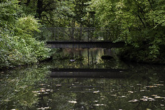 De oude brug (Theo Bauhuis) Tags: kleef brug hefst park spiegeling water bridge reflection reflections reflectie autumn germany nrwf kleve