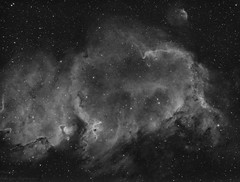 IC1848 Soul nebula in H-a line (MaGeOl) Tags: nebula astrophoto astrophotography astronomy stars space sky star telescope filters dust bw monochrome black white hydrogen qhy ngc ha ic 1848 soul elencoe astrometrydotnet:id=nova2279070 astrometrydotnet:status=solved