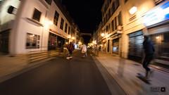 Night cruising Pau (Trialxav) Tags: longskate longboard cruising pau pyrenees france long exposure skate