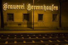 Brauerei Herrenhausen (Tim Boric) Tags: hannover herrenhausen brauerei herrenhäuserstrasse neon reclame ad frakturschrift letters rails tramrails gleis
