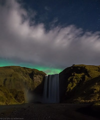 It's still magic even if you know how it's done. (katrin glaesmann) Tags: iceland unterwegsmiticelandtours photographyholidaywithicelandtours mountains skógafoss northernlights auroraborealis clouds night longexposure atriptoremember wherestrangersbecomefriends