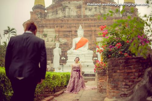 Wat Yai Chai Mongkhon Ayutthaya Thailand Wedding Photography | NET-Photography Thailand Photographer