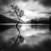 The Example (evorichie101) Tags: lone single individual nikon long exposure black white blackandwhite llyn padarn north wales mountians clouds blur