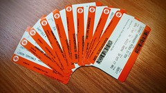 2 trains = 10 tickets (DavidSteele31) Tags: ticket tickets train trainline theenvironment paper savetrees waste stupid