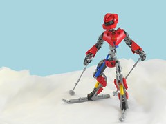 F22-X, Skier of the year 2100 (Anthony (The Secret Walrus) Wilson) Tags: lego moc afol ski skiing snow sports robots robotics future bionicle biocup biocup2017 creation mountain