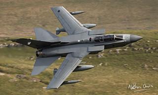 RAF Tornado GR4 ZA588 low level in Northern England