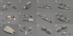 Y-wing Cockpit Breakdown (1) (Inthert) Tags: lego moc star wars btl a4 y wing fighter rebel alliance gold squadron koensayr manufacturing greebling rogue one new hope space breakdown step by instructions