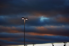 Darkness (Mister Day) Tags: light sodium sunrise clouds morning