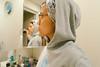 agfa portrait xps 160 ++ (Nazra Z.) Tags: selfportrait portrait selfie asian woman turban turbanista hoodie sweaterweather okayama japan 2017 autumn raw mirror reflection