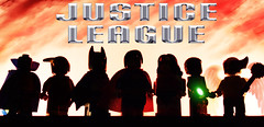 Generations of Justice: The 2000's (Andrew Cookston) Tags: lego dc comics justice league martian manhunter jon jonzz the flash wally west batman bruce wayne superman clark kent wonder woman diana prince green lantern stewart hawkgirl shayera hol 2000s 00s custom minifig minifigure photoshop toy still life nikon macro photography andrew cookston andrewcookston