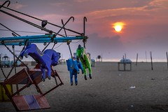 Day Break (rameshsar) Tags: 55200 beach chennai marina xt1 colors toys sunrise clouds