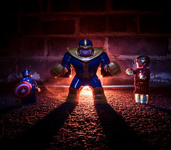 Infinity War is coming... (RidzBricks) Tags: toyphotography minifigure toy macro lego marvel infinity war iron man thanos captain america
