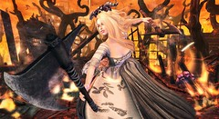 Feel it burning (clau.dagger) Tags: weloveroleplay we3rp wlrp lrweapons axe themuses gown xansa accessories fuubutsudou landscape secondlife fantasy fashion weapons tableauvivant insol catwa maitreya halfdeer drd jian alchemy poseidonposes