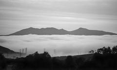 The View to Arran from West Kilbride, 25 September 2017, 20:30 (Dr John2005) Tags: arran firthofclyde westkilbride ayrshire island blackandwhite scotland landscape monochrome dusk twilight sea sky mountain