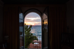 Sunrise... a room with a view (PhredKH) Tags: canon canoneos canonphotography fredkh italia italiancoast italiancoastaltown italy photosbyphredkh phredkh sicily splendid canoneos5dmarkiii ef2470mmf4lisusm 2470mm sunrise goldensky sky clouds outdoorphotography travelphotography sunriseandsunsets sea seaside seascape seafront seashore water canoneos5dmkiii