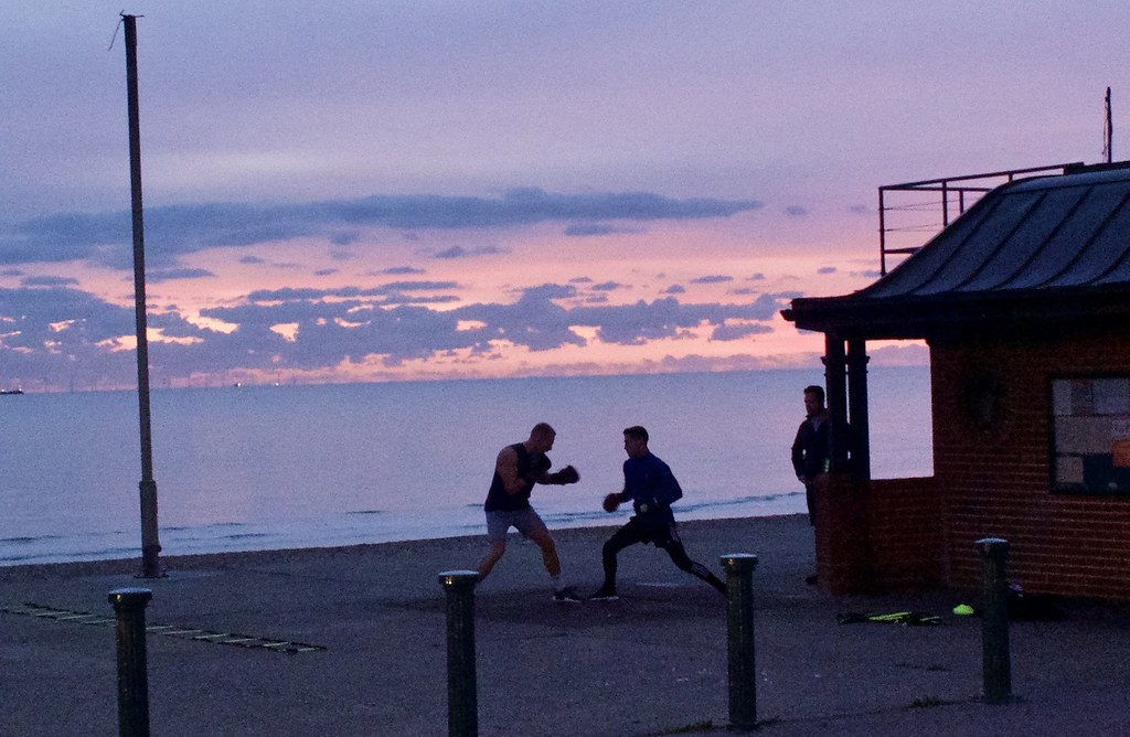Sparring at Sunset