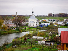 Landscape of Suzdal Old Town, Russia (phuong.sg@gmail.com) Tags: aerial ancient architecture attraction cathedral center church cityscape cloudscape convent culture dome famous fortress golden heritage high landmark medieval monastery old outdoor religion ring russia site streets summer suzdal temple tourism town traditional travel unesco view world