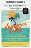 Summer Party- Free Flyer PSD Template + Facebook Cover (elegantflyers@) Tags: 60x 70x 80x beach cocktail fraer music ocean old oldpaper oldstyle paper party poster retro sea summer sun sunset vacation vintage weekend free flyer