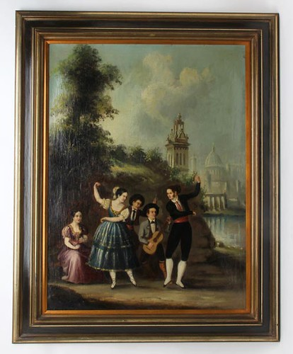 Pair Early Grand Tour Paintings ($560.00)