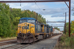 CSXT Q403 @ Oxford Valley, PA (Darryl Rule's Photography) Tags: 2017 buckscounty csx csxt catenary clouds cloudy diesel diesels dobryrd emd empty fall ferromax freight freightcar freighttrain freighttrains gesun mixedfreight october oxfordvalley pa pennsylvania q403 railroad railroads sunny train trains trentonsubyn2 westbound
