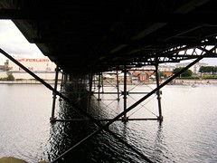 Southport pier supports, Lancashire (rossendale2016) Tags: resort seaside holiday tourism tourist popular fashioned merseyside lake boating amusement finland supporting victorian old strong thin wrought cast supports water pier iron underneath under lancashire southport