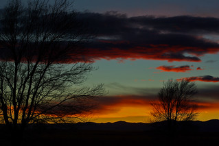 Sunset at Maxwell National Wildlife Refuge. New Mexico, USA.