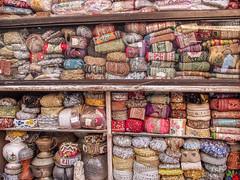 Mumbai 2015 (hunbille) Tags: india mumbai bombay birgittemumbai2lr chor market bazaar bazar chorbazaar thieves flea antiques antique ribbon pile