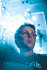 LIGHTS (miguelmawe92) Tags: portrait reflections model canon kid futurist blue lights bokeh