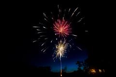 Boom (adamopal) Tags: canon canon5d canon5dmkiii canon5dmarkiii fourthofjuly 4thofjuly july2017 independenceday americaday mericaday merica landofthefree fireworks explosions longexposure nightshot lake pond blue orange red black