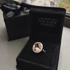 The second of our three stunning morganite and diamond engagement rings which arrived in to the offices straight from our workshop last week ✨ Set in 18 carat white gold this ring has to be seen to be believed! A real showstopper 💎💎 (VoltaireDiamonds.ie) Tags: diamond rings engagement jewellery