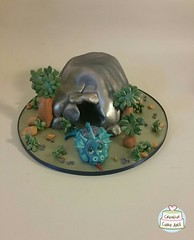 dinosaur and cave 12015020 by Creative Cake Art #melbourne #novelty #cakes (www.creativecakeart.com.au) Tags: creative cake art novelty childrens cakes melbourne affordable artistic
