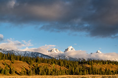 Grand Teton National Park (Jeremy Duguid) Tags: grand teton national park tetons mountains jackson hole wyoming wy west western usa travel nature landscape sunrise morning dawn clouds peaks trees cloud beauty colors fall autumn jeremy duguid sony southwest